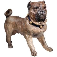 Victorian Austrian Cold Painted Terracota Bulldog