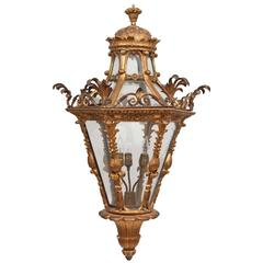 Late 18th Century Italian Giltwood Lantern