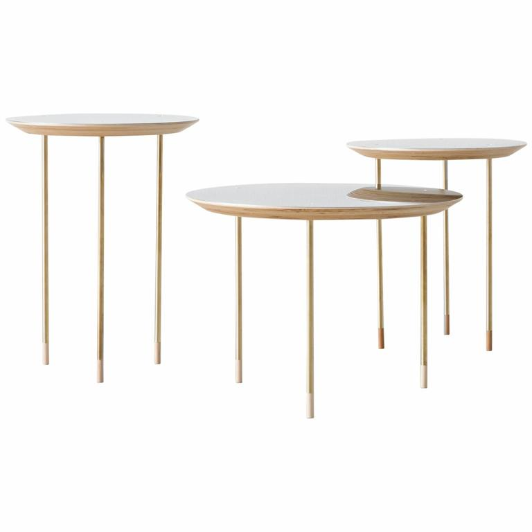 Serie of 3 Side Tables Small Family Growing Numebered Edition by Veruska Gennari 1