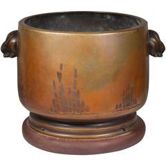 Late 19th Century Japanese Bronze Hibaci/Planter