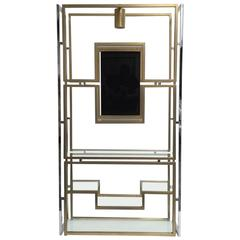Elegant Étagère by Kim Moltzer, Finished in Brass, Chrome, Glass, 1968