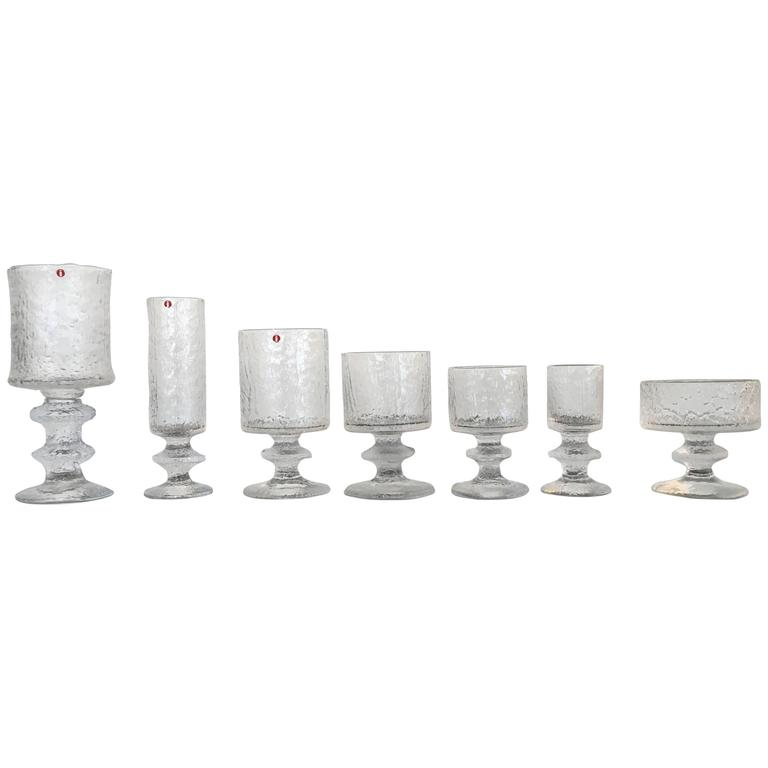 Rare Service for Eight Drink Set by Timo Sarpaneva for Iittala