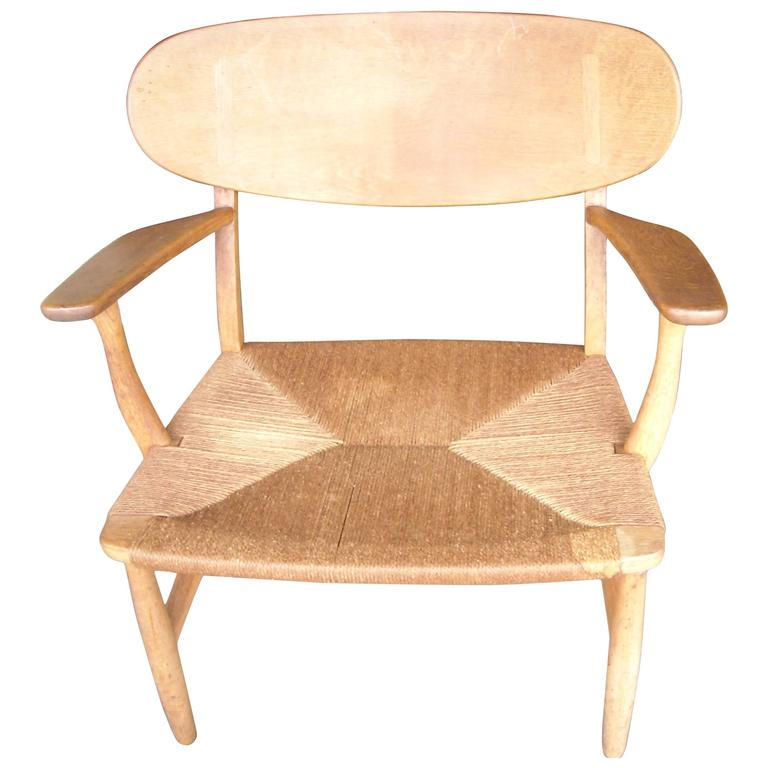 Hans Wegner CH22 Armchair / Lounge by Carl Hansen, Branded
