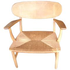 Hans Wegner CH22 Armchair / Lounge by Carl Hansen, Branded