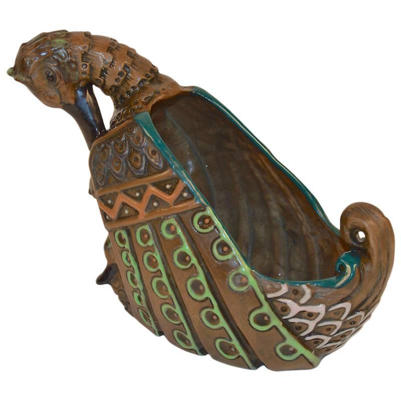 Arts and Crafts Austrian Amphora Duck Planter