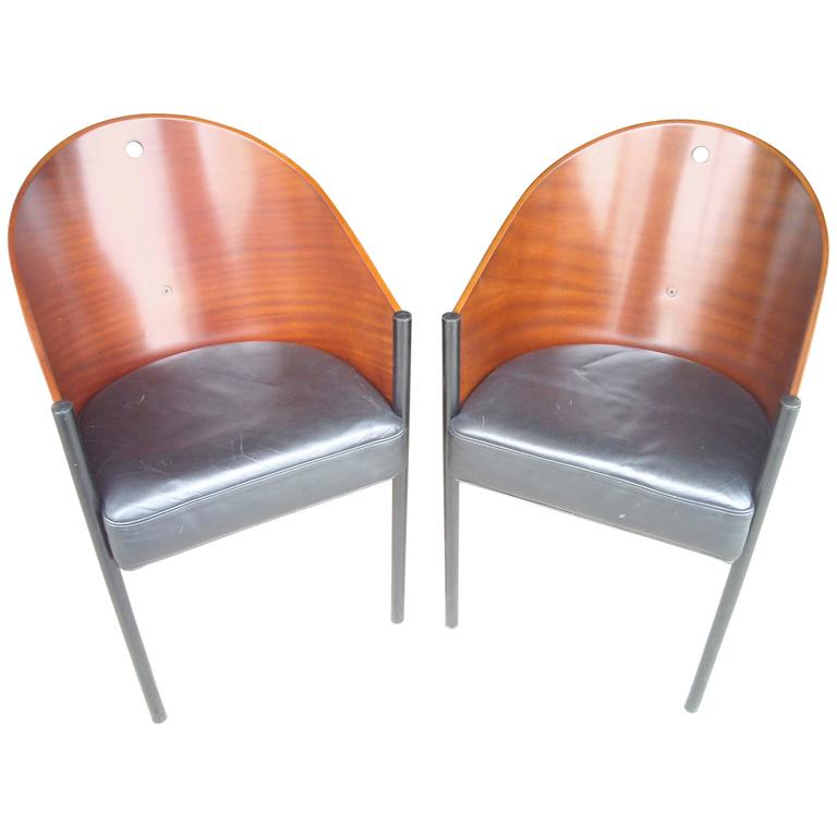 """Philippe Starck """"Costes"""" Side or Armchairs, Three Legs"""