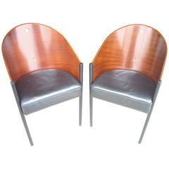 "Philippe Starck ""Costes"" Side or Armchairs, Three Legs"