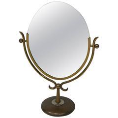 Vintage Charles Hollis Jones Wishbone Brass Table Mirror