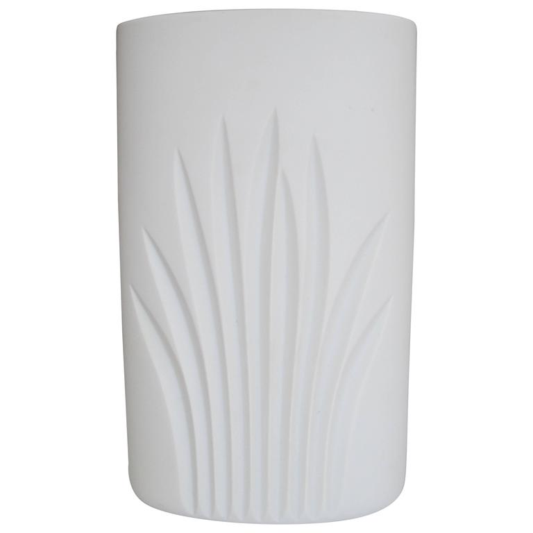 White Matte Porcelain Pottery Vase by Rosenthal, Germany