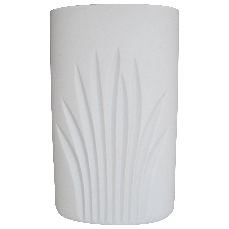 German White Matte Porcelain Pottery Vase by Rosenthal
