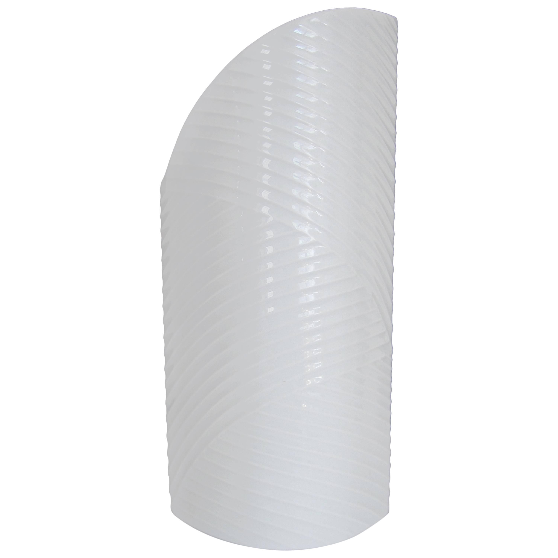 White Asymmetric Porcelain Ceramic Vase, Germany