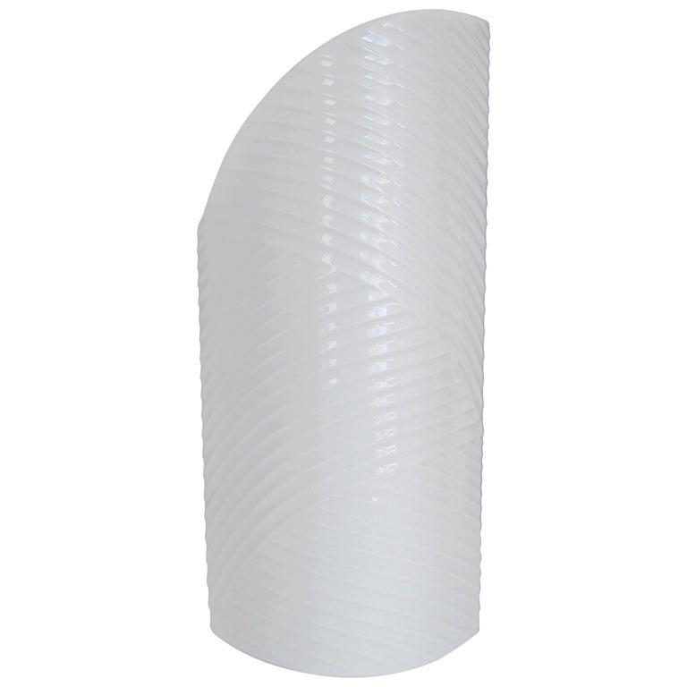 White Asymmetric Porcelain Ceramic Vase, Germany For Sale