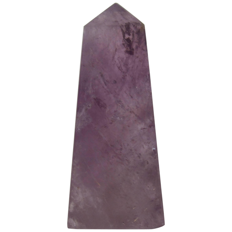 Purple Amethyst Stone Obelisk Sculpture