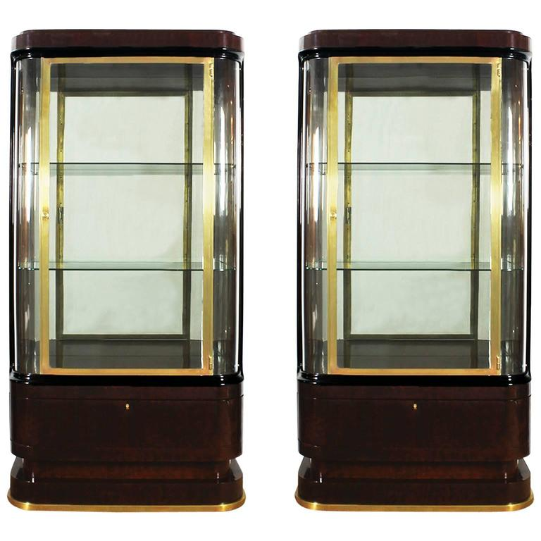 pair of art deco spanish vitrines at 1stdibs. Black Bedroom Furniture Sets. Home Design Ideas