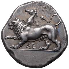 Ancient Greek Silver Stater Coin from Sikyon, 431 BC