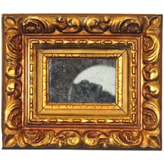 Small Baroque Style Carved Giltwood Mirror, Spain, circa 1910