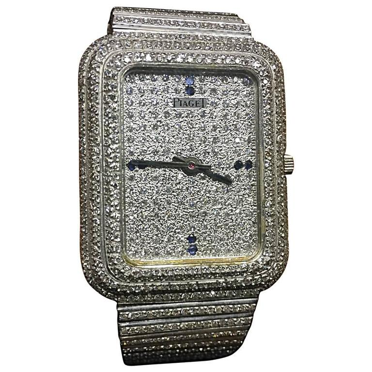 34513518aaf Unique Maison Piaget Oversized White Gold and Diamond