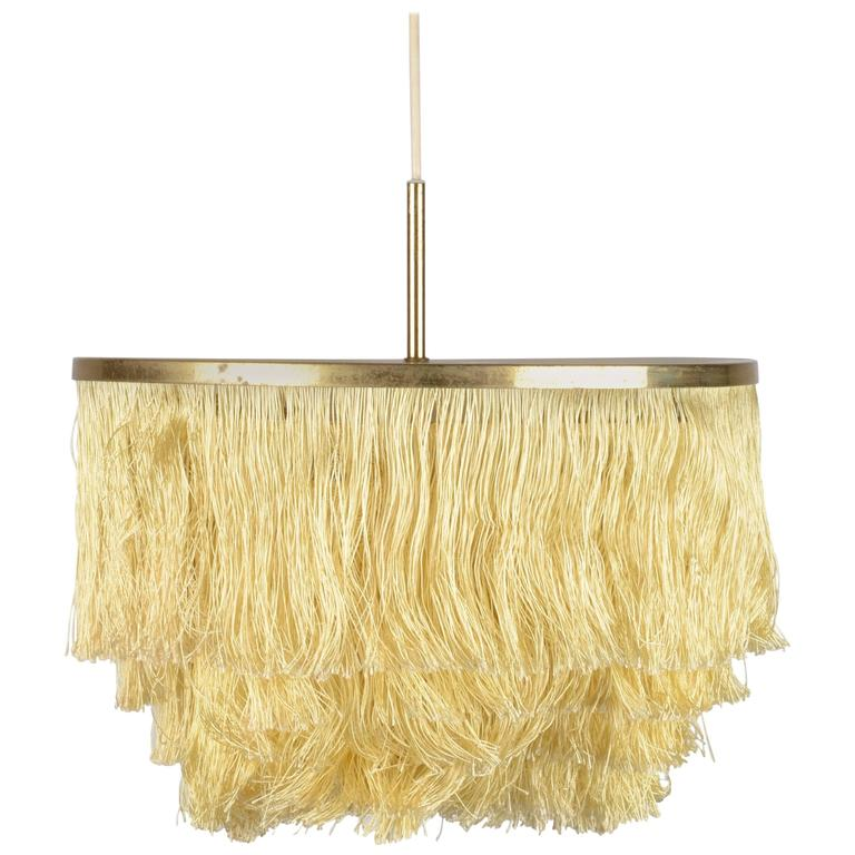 Fringed Pendant Designed by Hans-Agne Jakobsson for Markaryd, Sweden, 1960s For Sale