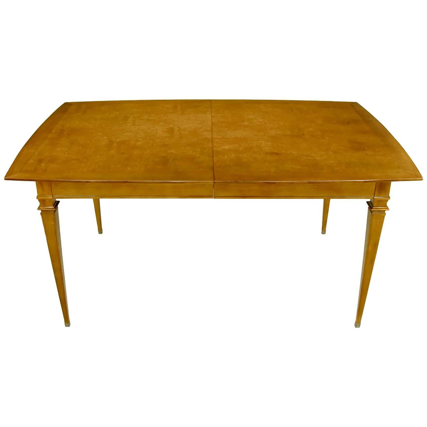 parquetry top dining table with copper accent for sale at 1stdibs