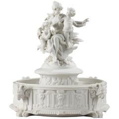 Biscuit Porcelain Centerpiece with Musical Cupids
