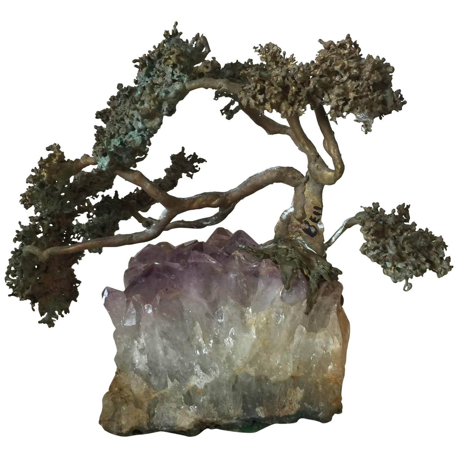 Bonsai tree sculpture for sale at stdibs