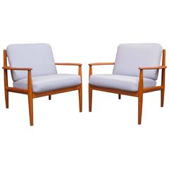 Greta Jalk Danish Lounge Chairs