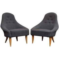 Pair of Little Eva Chairs by Kerstin Hörlin-Holmquist