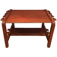 Modernist 1940s French Cherrywood Coffee Table