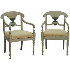 19th Century Pair of Swedish Armchairs