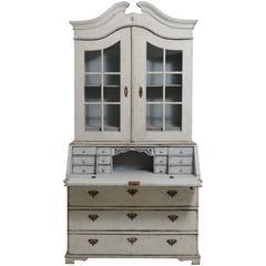 Swedish Baroque Glass Cabinet Two - Door, 18th Century