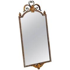 Mid Century Iron Gilt French Mirror