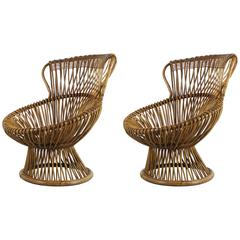 Iconic Pair of Lounge Chairs by Franco Albini, 1950
