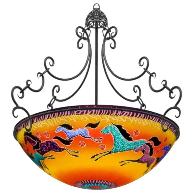 Ulla darni sunset horses chandelier at 1stdibs ulla darni sunset horses chandelier aloadofball Images