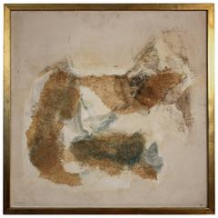 Margaret Ash Abstract, 1950s Mixed Media Painting