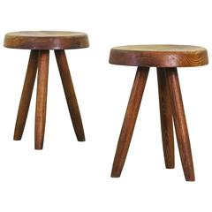 Pair of Beautiful Stools by Charlotte Perriand for Steph Simon