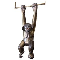Large Brass and Copper Monkey by Sergio Bustamante, 1960s