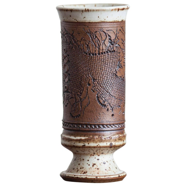 Wilhelm and Elly Kuch Studio Ceramic Vase, Germany, 1970 For Sale