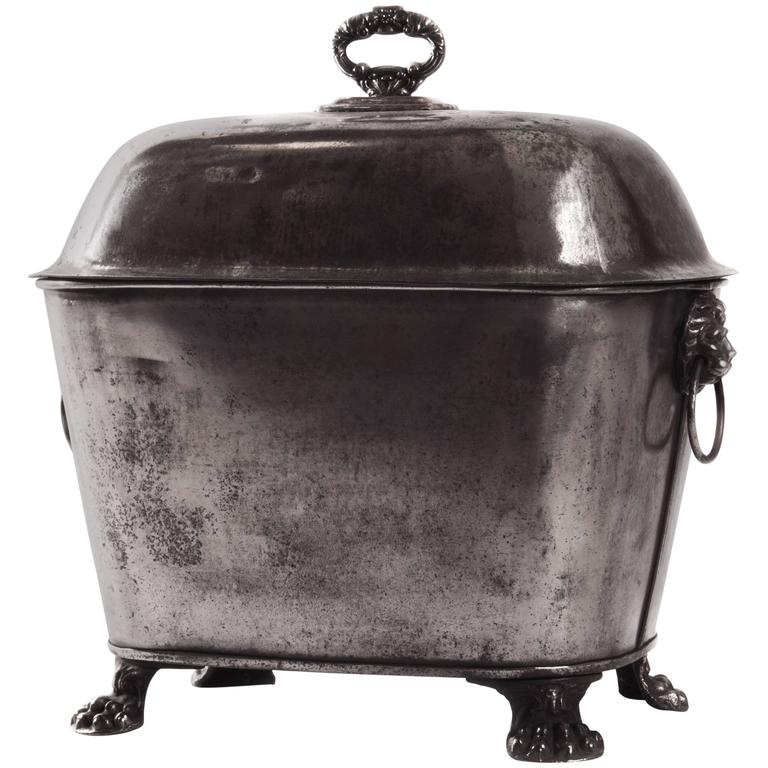 19th Century English Coal Scuttle For Sale