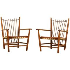 Pair of Lounge Chairs by Albert Haberer for Fleiner