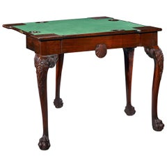 18th Century Mahogany Irish Games Table
