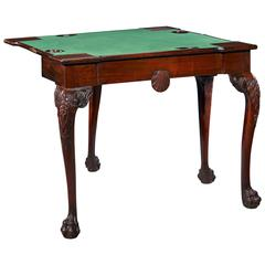 18th Century Mahogany Irish Games Table