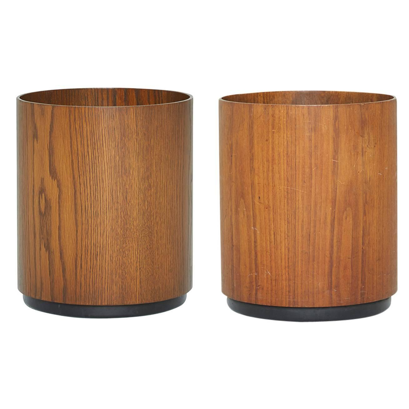 Danish modern teak wastebaskets by jens risom circa 1960 at 1stdibs - Modern wastebasket ...