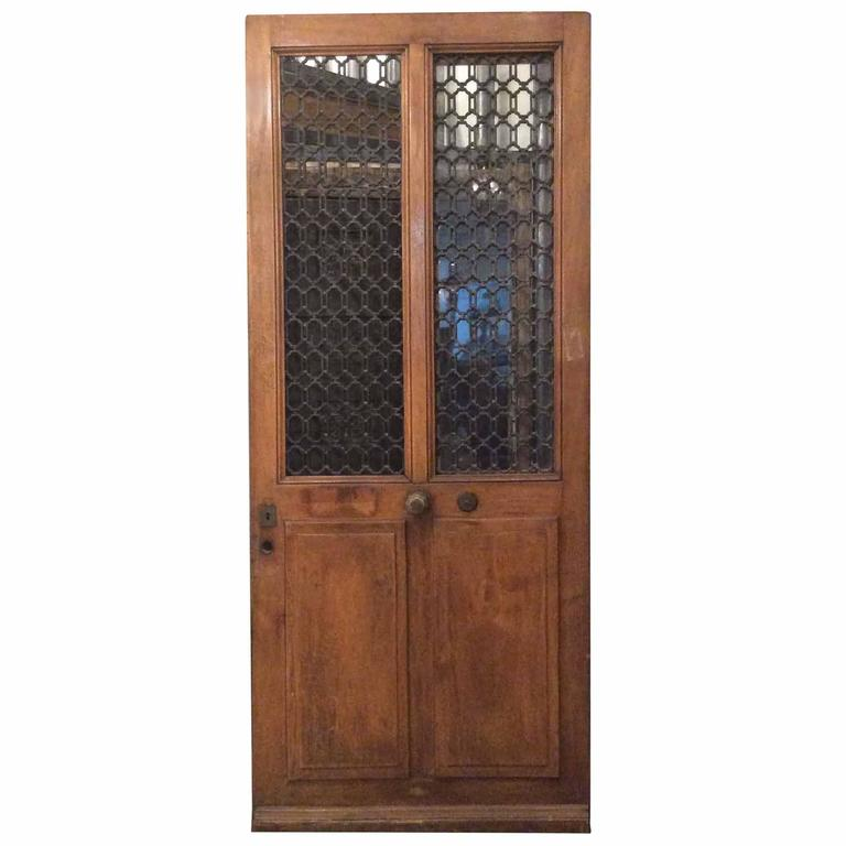 Single antique french door with ironwork for sale at 1stdibs for Single door french doors