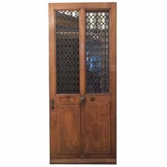 Single Antique French Door with Ironwork