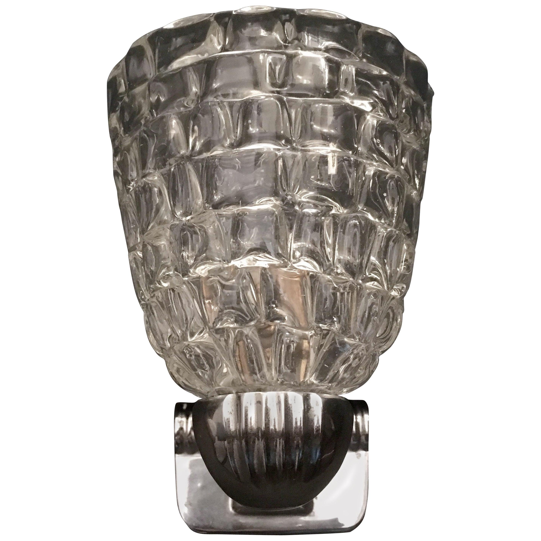 Barovier Murano Glass 1960s Wall Light