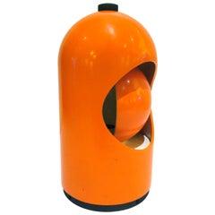 1960s Space Age Orange Eclipse Lamp Designed by Joe Colombo for Lightolier
