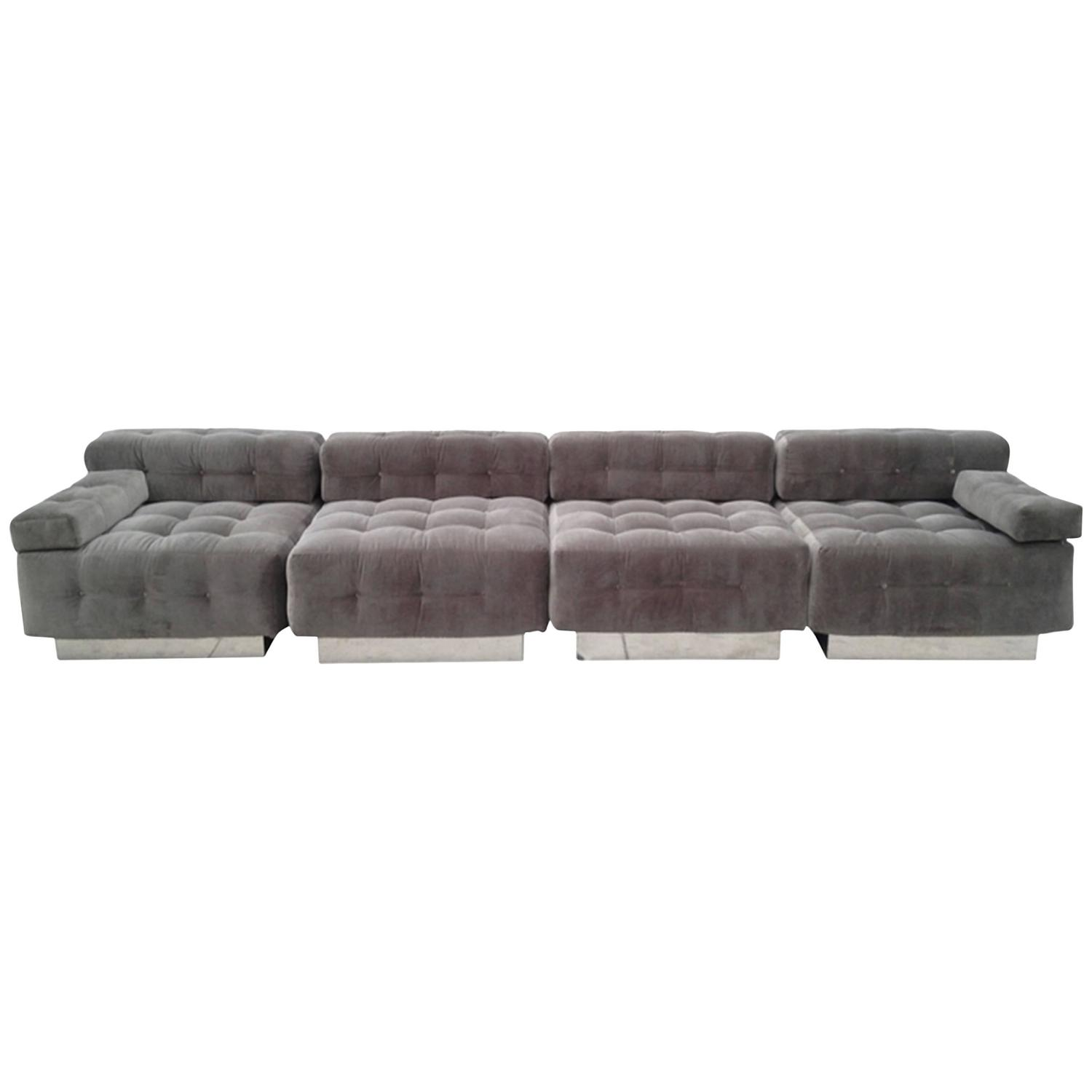Harvey Probber Four Piece Modular Sofa For Sale At 1stdibs