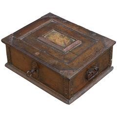 18th Century Continental Lock Box with Key
