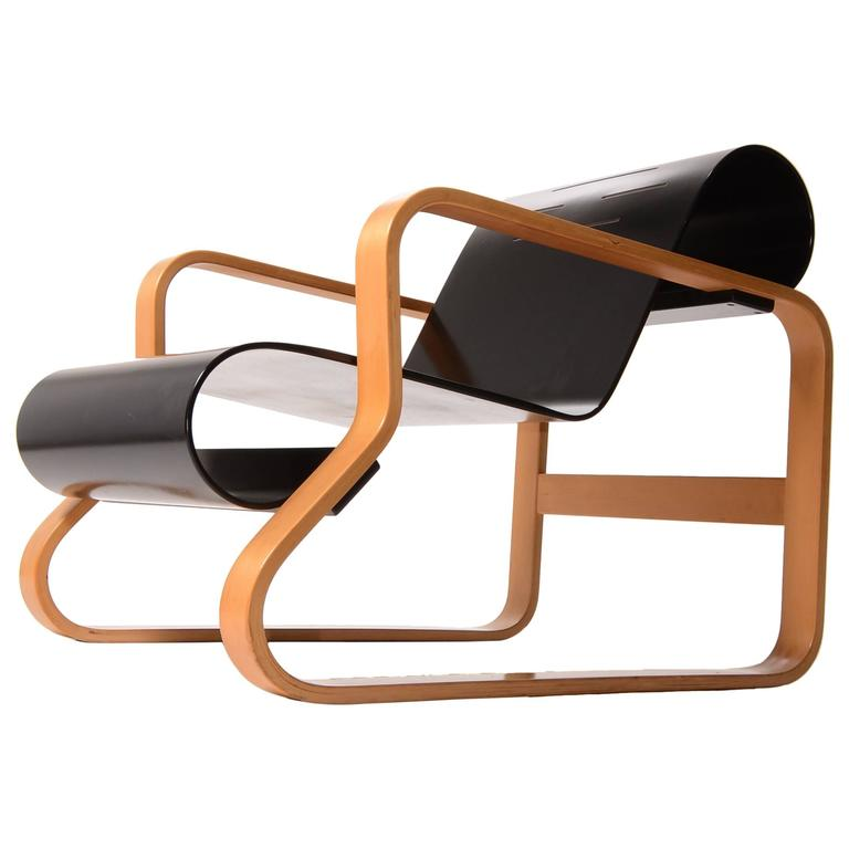 Alvar aalto paimio 41 chair for arket in black for sale at for Alvar aalto chaise