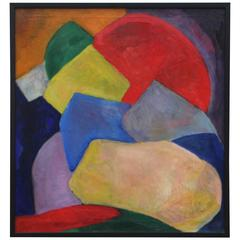 Virginia Vance Elliott Geometric Abstract in New Frame
